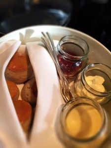 mini scones with strawberry jam, clotted cream and lemon curd The Four Seasons Hotel Mayfair London Afternoon tea