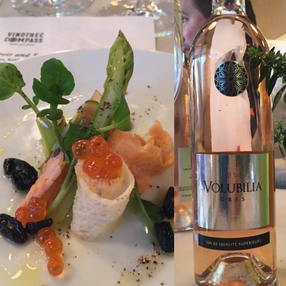 the Morrocan rose and smoked trout salad at Vinothec Compass