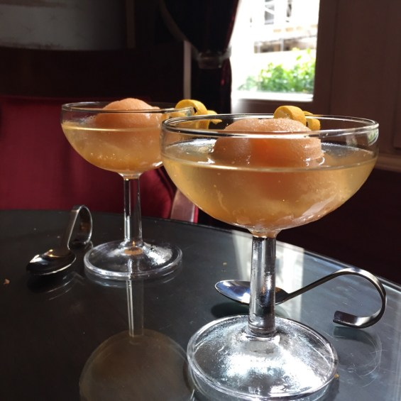 Aperol Sorbet Spritzer cocktail at the Royal Horseguards Hotel London