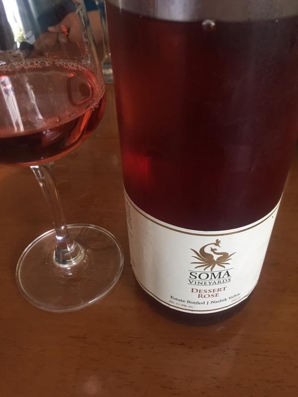 dessert rose wine at  Soma Vineyards and Resort, Nashik Valley, Maharashtra, India