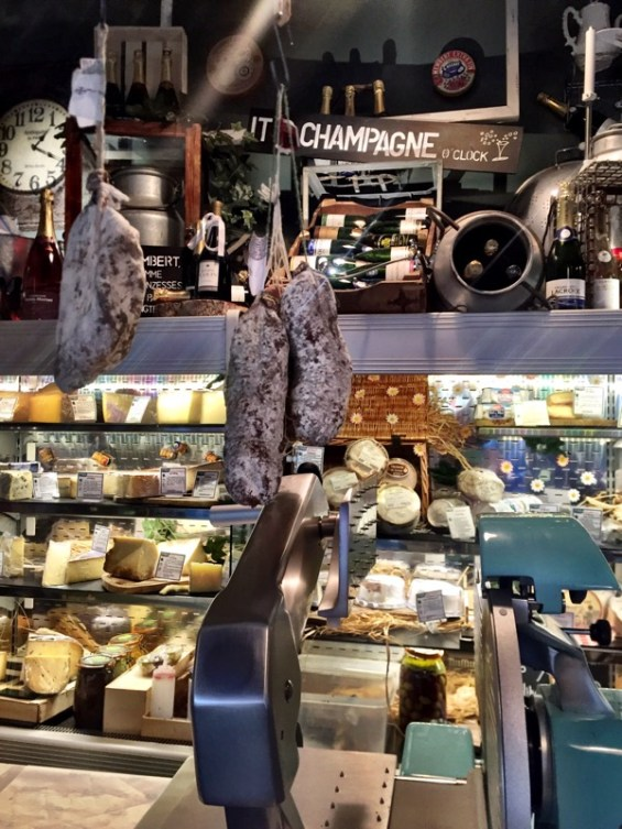 French cheese and Italian charcuterie hanging around at Champagne + Fromage, Brixton Village, Brixton, London
