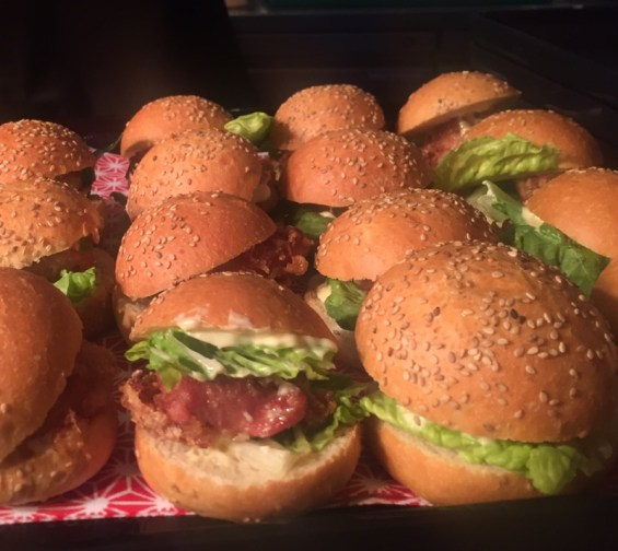 chicken kara-age burgers, appetizers at Pop Up Japan at Proud East, Dalston, East London