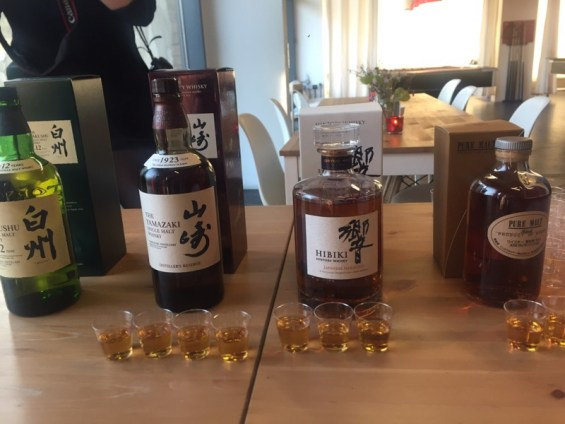 Japanese whiskey tasting at Pop Up Japan at Proud East, Dalston, East London