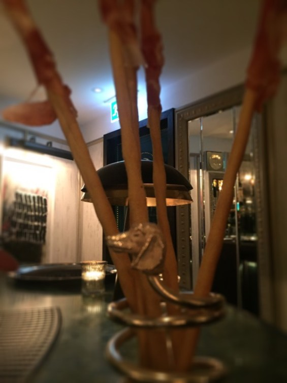 breadstick holder at Margot restaurant, Covent Garden, London