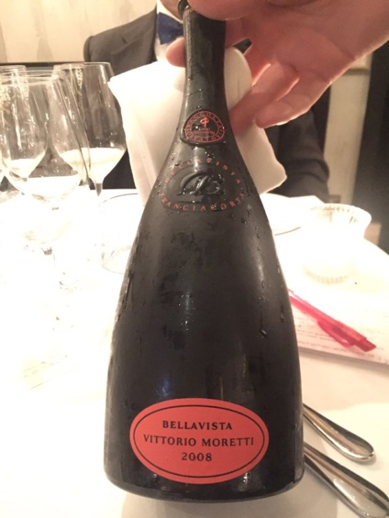 Franciacorta, Vitorrio Moretti 2008, Margot restaurant, Covent Garden,London