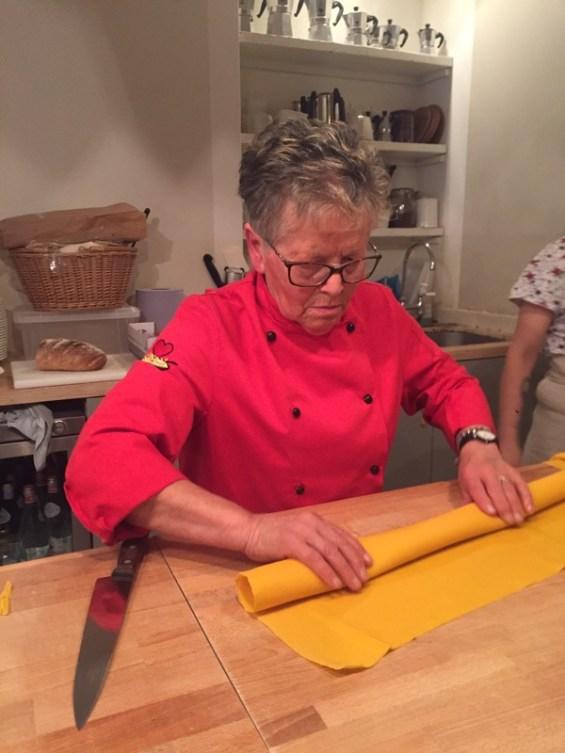 pasta making with Sfoglina at Burro e Salvia, East London with the  Consorzio Vini Colli Bolognesi