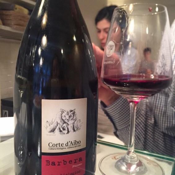 Corte d'Aibo, sparkling Barbera, Italian wine, red wine at Burro E Salvia, East London with the  Consorzio Vini Colli Bolognesi