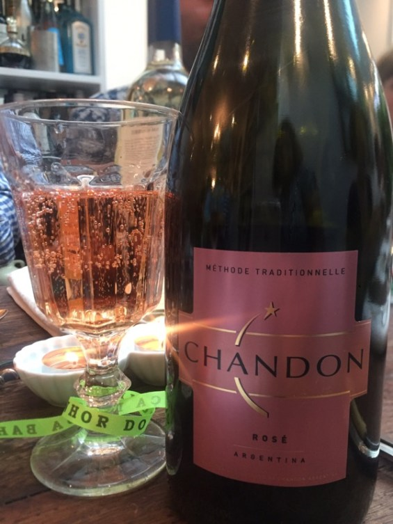 Chandon Sparkling rose from Argentina, Latin American Kitchen, London