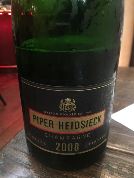 Piper-Heidsieck 2008 vintage champagne London