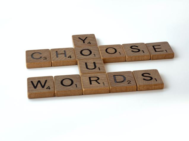 Choose your words tiles speaking out