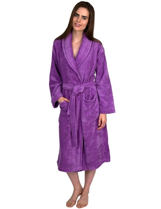 TowelSelections Turkish Cotton Bathrobe Shawl Collar Terry Robe Made in Turkey