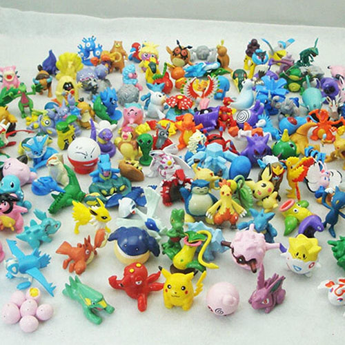 4. Pikachu Monster Mini Plastic Figures
