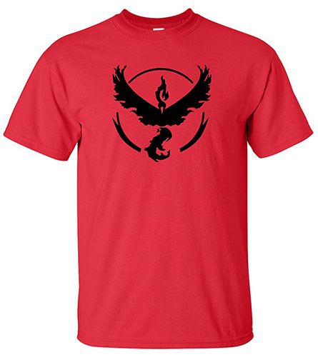 6. Go Team Valor Red Shirt
