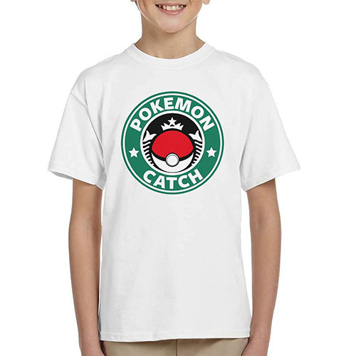 5. Pokemon Starbucks Kid's T-Shirt