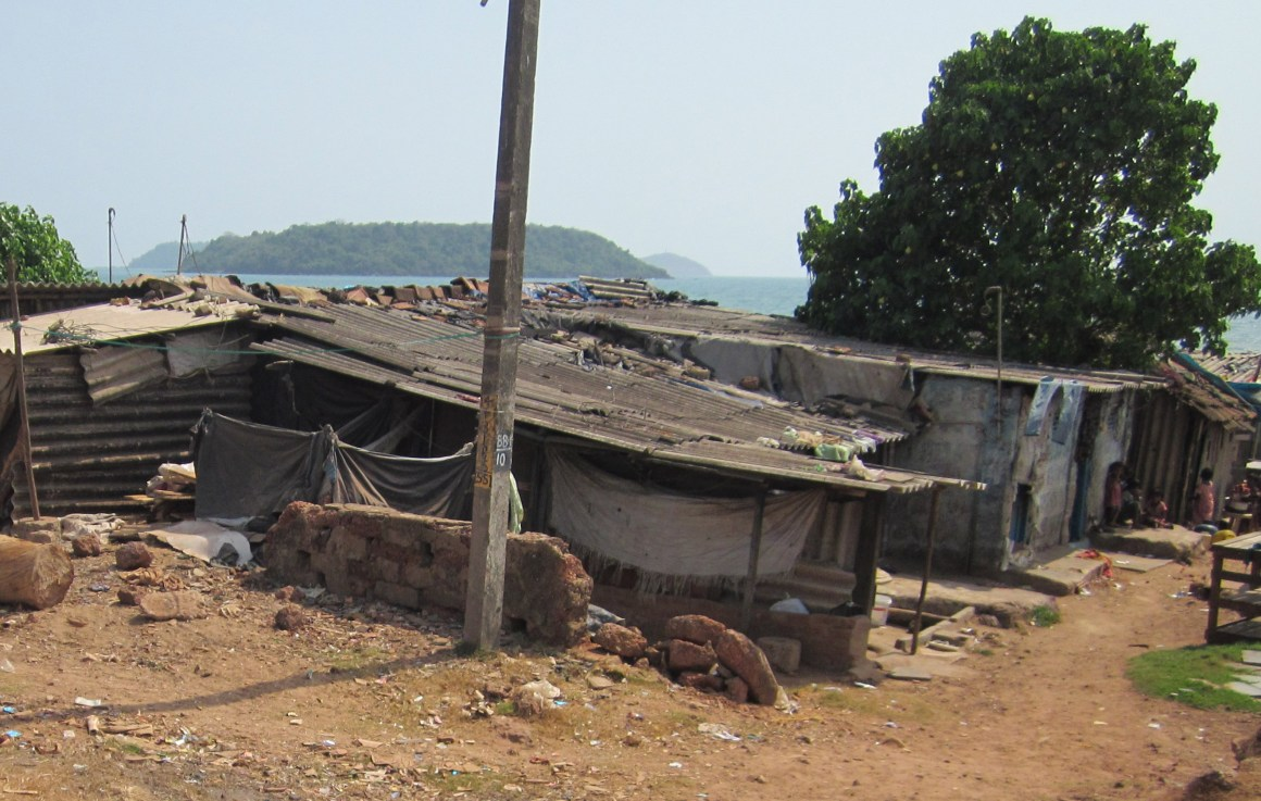 Shacks on the way to Baina Beach, on the seafront of Vasco da Gama, in central Goa. Credit: Vikram Gopal