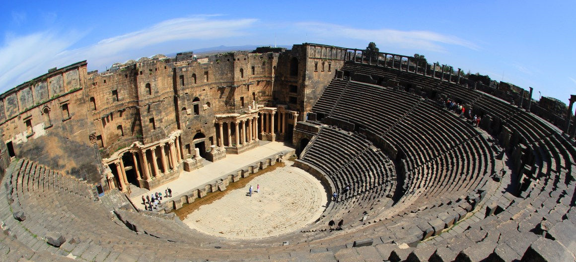 File photo of  the ancient Syrian city of Bosra. Credit: Ergo (http://www.flickr.com/photos/-ergo-/5575772627/)  via Wikimedia Commons