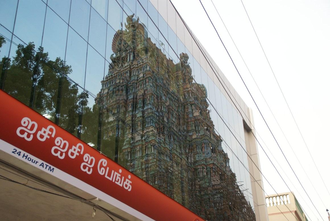 Bank branch, Madurai. Credit: Patrik M. Loeff, CC 2.0