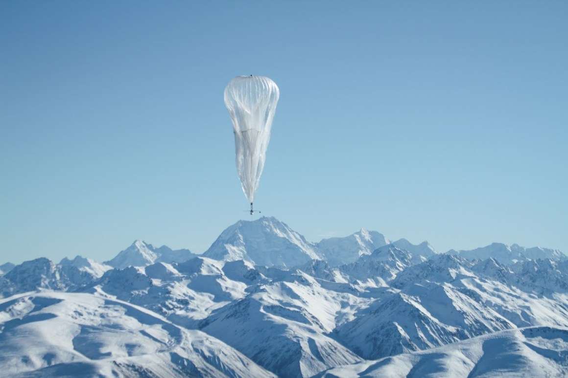 A Project Loon balloon during one of its tests. Source: Google