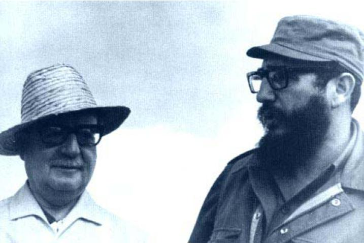 Undated photograph of Salvador Allende and Fidel Castro. Credit: Jorge Barahona/Flickr CC 2.0