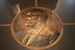 A depiction of Alfred Nobel at the Nobel Museum in Stockholm. Credit: sol_invictus/Flickr, CC BY 2.0