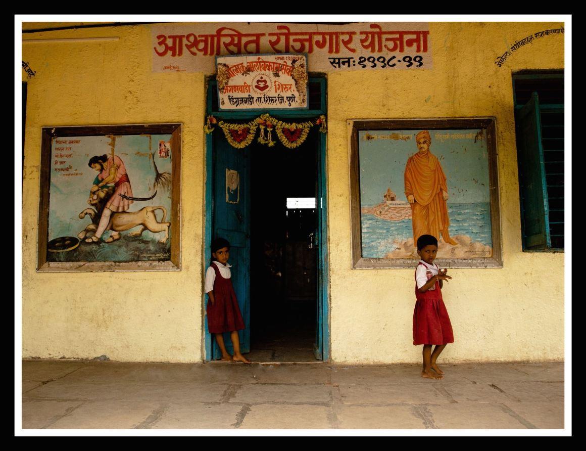 Girls at a school in Dingrajwadi, Maharashtra. Credit: Harini Calamur, CC BY-NC-ND 2.0