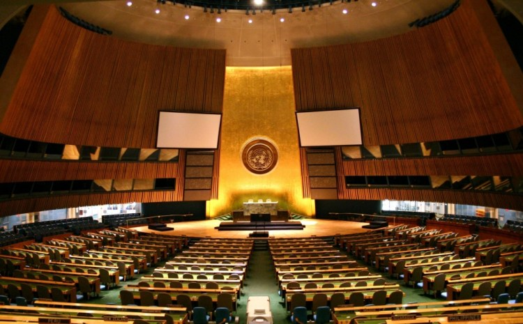 The United Nations General Assembly Hall. Credit: Wikimedia Commons