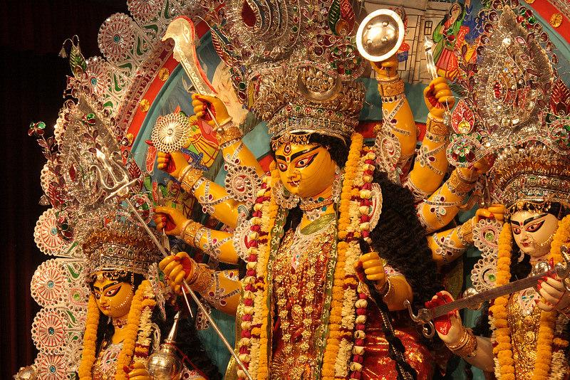 File photo of an idol of Durga.