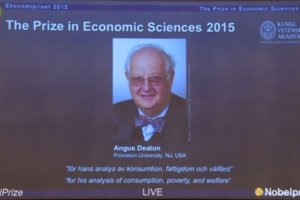 Angus Deaton's citation for the economics Nobel for 2015. Source: nobelprize.org