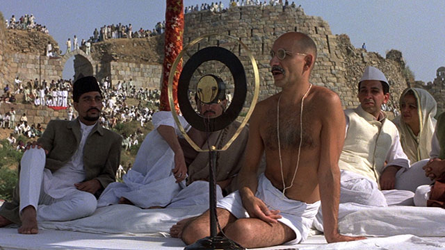 Ben Kingsley as Gandhi in the film directed by Richard Attenborough