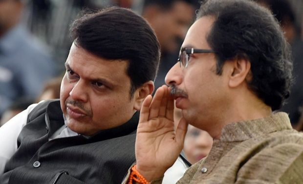 Maharashtra CM Devendra Fadnavis and Shiv Sena chief Uddhav Thackeray. (Photo: PTI)