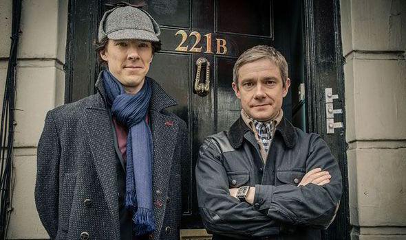 Benedict Cumberbatch as Sherlock Holmes and Martin Freeman as Watson. (Photo: Publicity stills by the BBC)