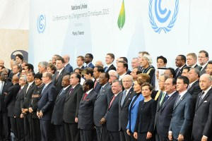 The 150+ heads of state in attendance on the first day of climate negotiations at the COP21 in Paris. Source: UNFCCC