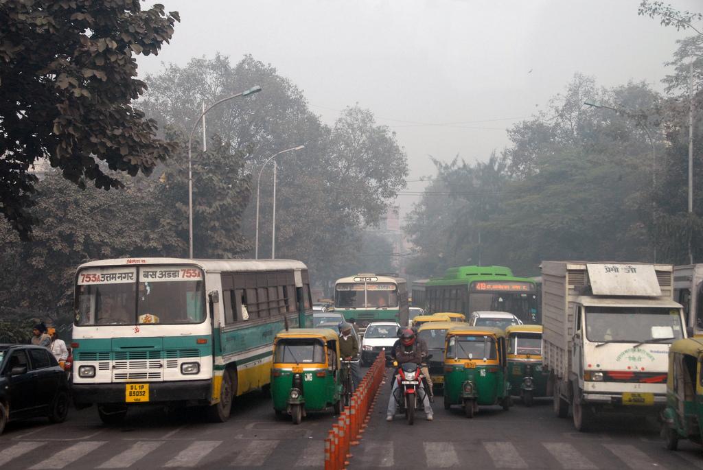 Delhi traffic. Credit: Mark Danielson/Flickr CC 2.0