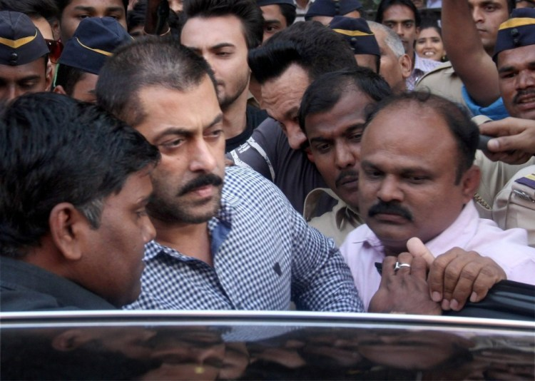 Actor Salman Khan leaves Bombay High Court after he was acquitted in a 2002 hit and run case, in Mumbai last week. Credit: PTI