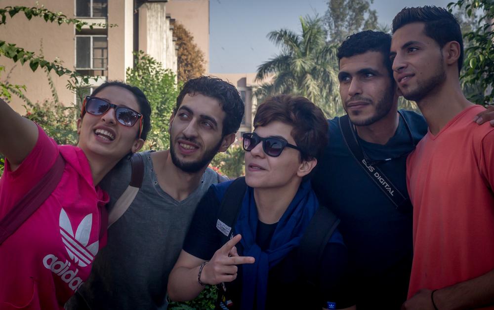 The Palestinian troupe visits Khalsa College, Delhi. Credit: Rahul M