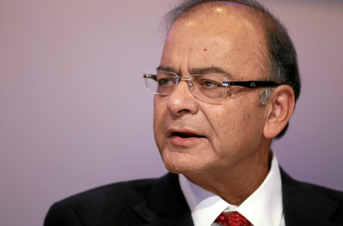 Finance Minister Arun Jaitley talks during a session at the Annual Meeting 2015 of the World Economic Forum in Davos. Credit: worldeconomicforum/Flickr, CC-BY-NC-SA 2.0