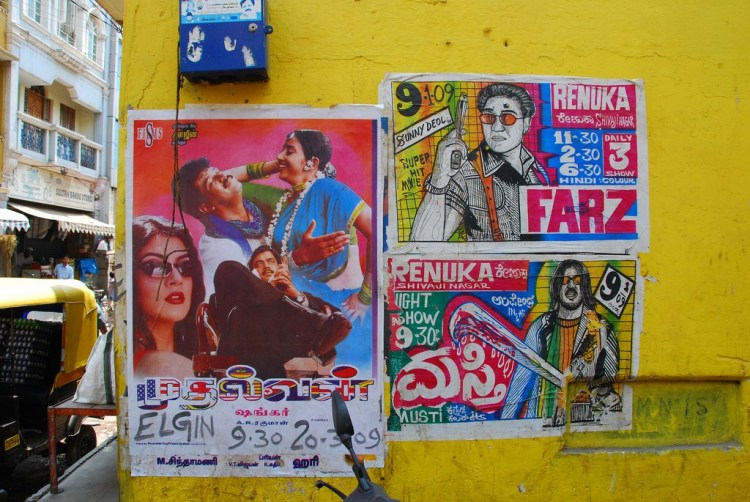 Film posters outside a cinema hall in Bangalore. Credit: Paul Keller on Flickr