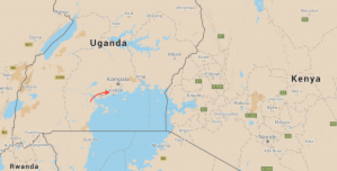 Location of the Zika Forest, near Entebbe, Uganda, close to the shores of Lake Victoria. Source: Google Maps