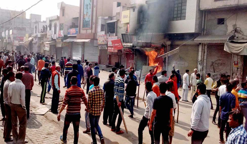 Protesting Jats have destroyed homes and establishments. Credit: PTI