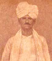 Bhikhari Thakur, Bihari playwright and lyricist, born Saran district, Bihar, (1887 - 1971). Credit: Wikipedia.