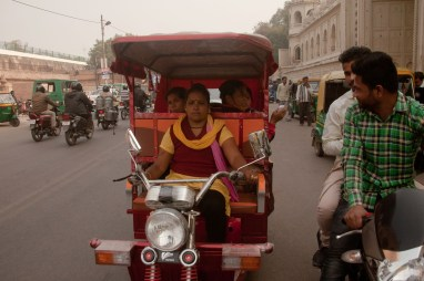 Suman is cautious of men on the roads, who frequently harass her for taking away 'their' jobs. Credit: Pallavi Gaur
