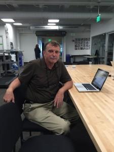 Matt Carroll at his desk