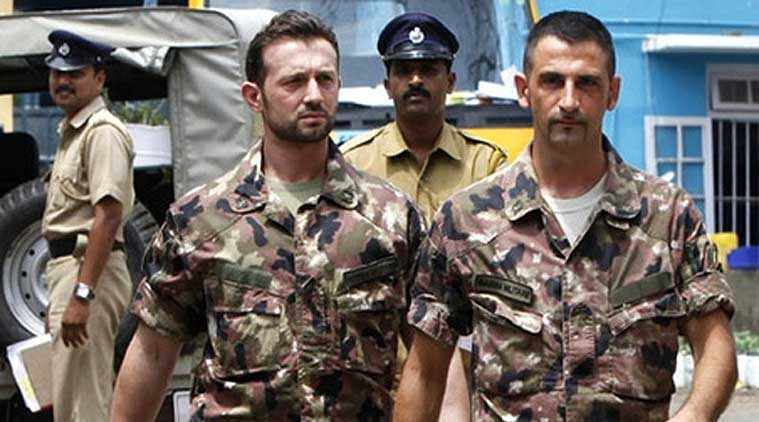 File photo of the two Italian marines, Massimiliano Latorre and Salvatore Girone, charged in India with the killing of two fishermen while off the Kerala coast in 2012. Credit: PTI