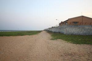 An illegal road near Neelankarai beach. Credit: Sibi Arasu
