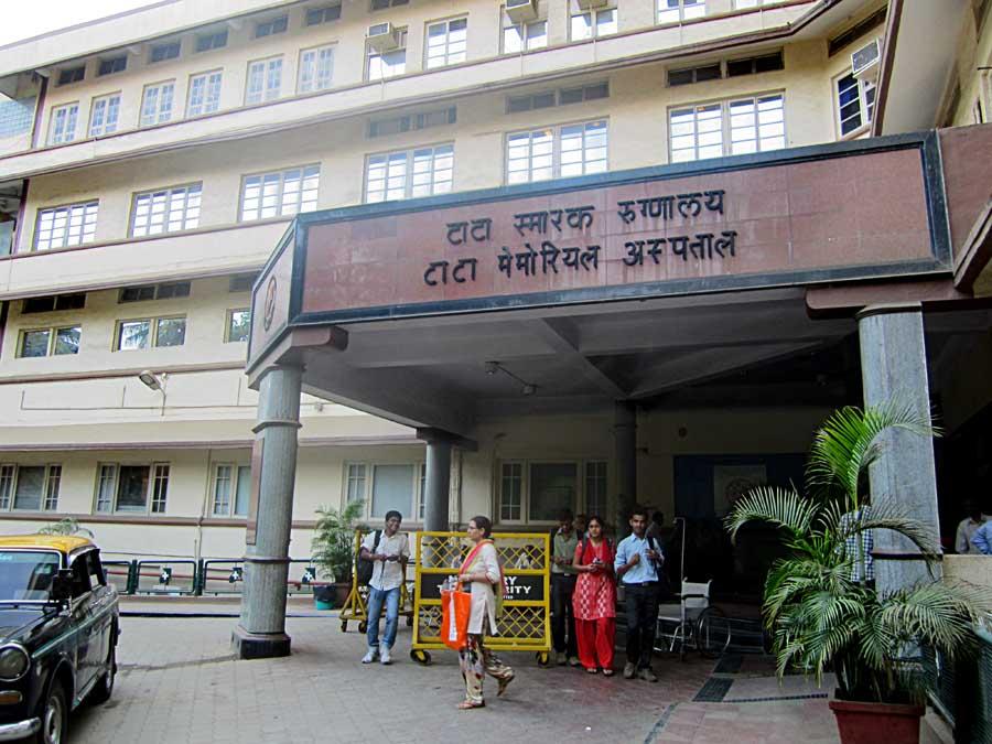 Outside the Tata Memorial Cancer Hospital in Mumbai. Credit: Wikimapia