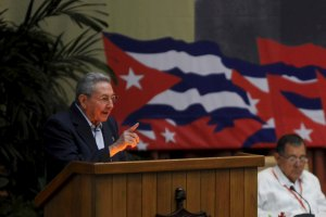 Cuba's President Raul Castro speaks during the opening ceremony of the seventh Cuban Communist Party (PCC) congress in Havana April 16, 2016. Credit: Reuters/Omara Garcia/AIN/Handout via Reuters