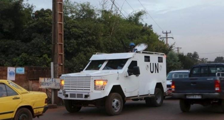 A UN armored vehicle patrols in Bamako, Mali, November 23, 2015. Credit: Reuters/Joe Penney