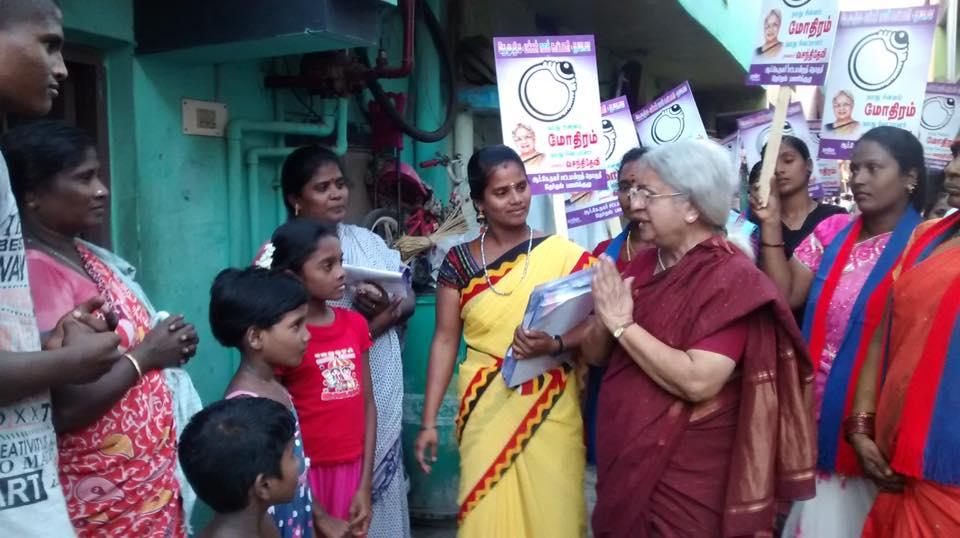 V. Vasanthidevi campaigning. Source: Facebook