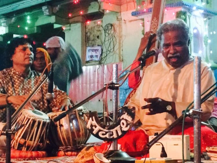 Venkatesh Kumar performs Raga Jog at the annual concert in Miraj. Credit: Nikhil Inamdari