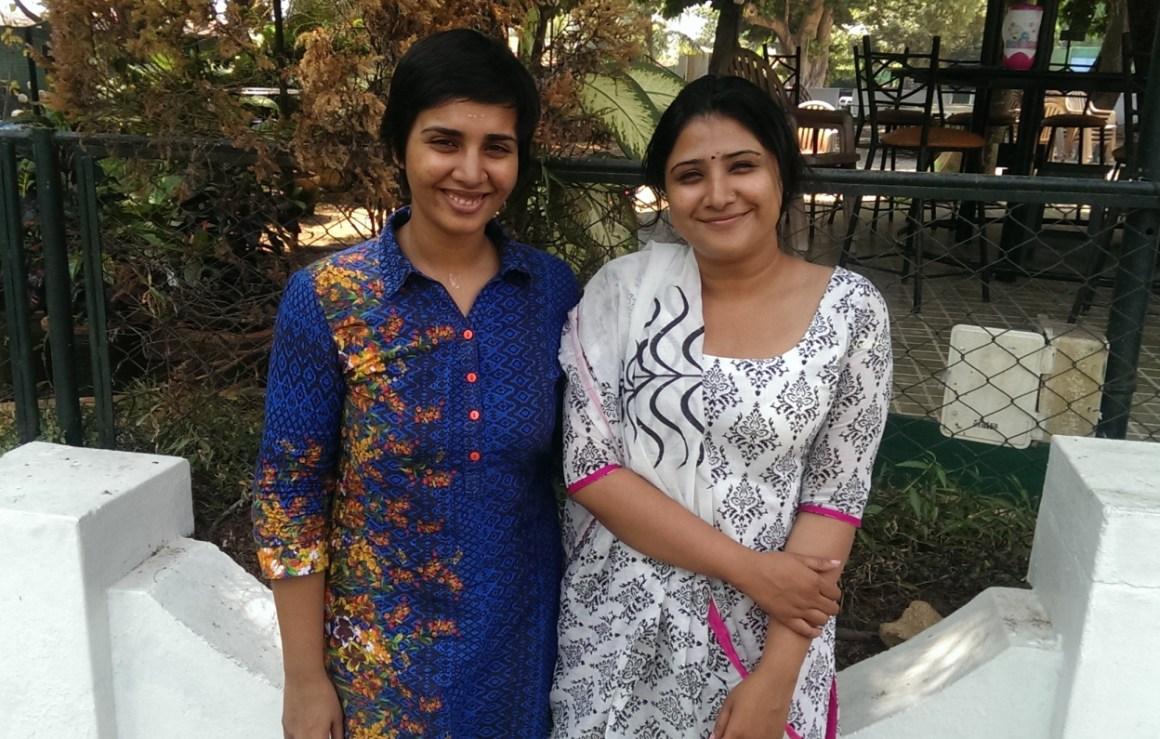 Aardra Chandra Mouli (left) and Gayathri Thankachi. Credit: Nandita Jayaraj/TLoS